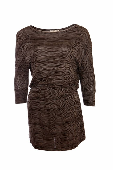 Joie, brown dress with stripes in size XS.