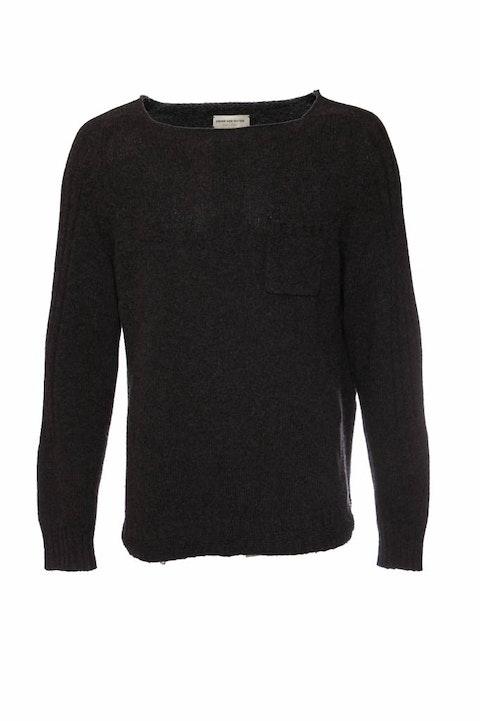 Dries Van Noten, Grey knitted jumper in size XL.