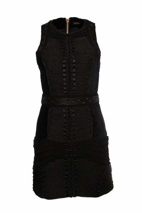 X H&M, Black velvet dress EU38/M