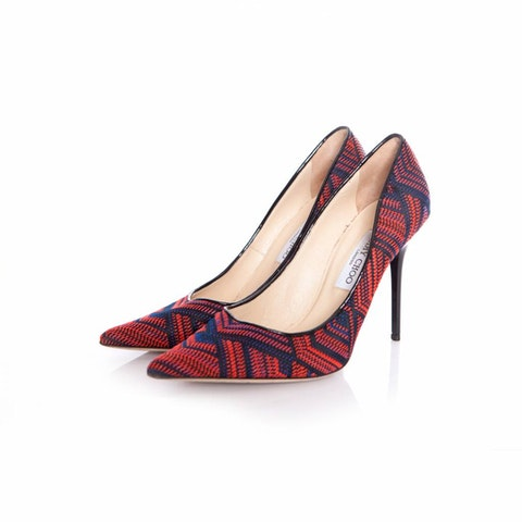 Abel pointed woven fabric pumps