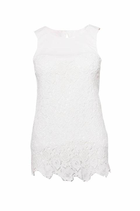 Patrizia Pepe, White lace top.