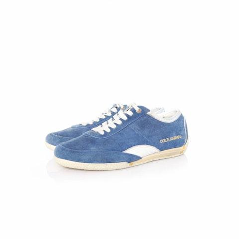 Blue Suede Sneakers.