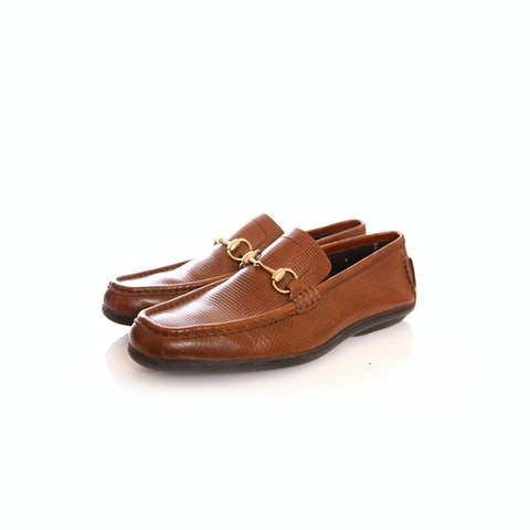 Brown Leather Loafers size 42