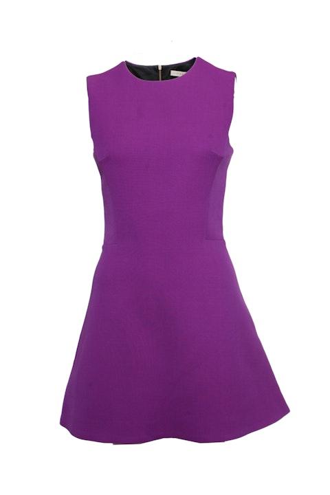 Victoria Beckham, Purple flared dress.