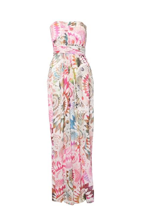Matthew Williamson, Multicolored silk wrap-dress in size UK12/M.