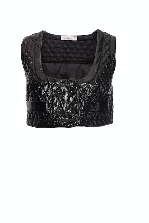 See By Chloe, Patent leather waistcoat.