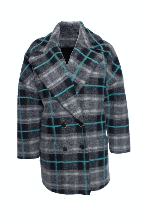 MSGM, Checked wool coat.
