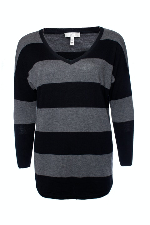 Joie, Grey and Black striped sweater