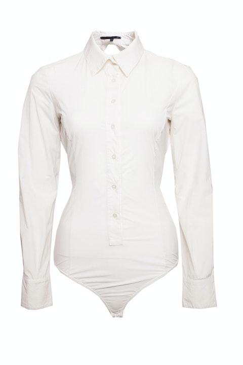 Elisabetta Franchi, white body with collar.