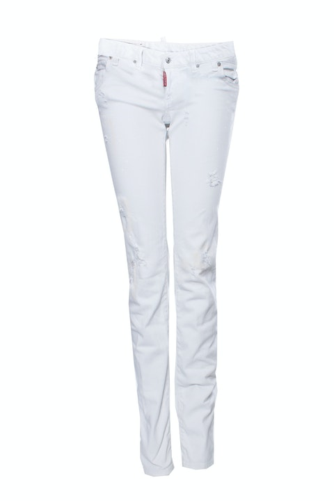 Dsquared2, off-white jeans with stained effect in size IT40/XS.