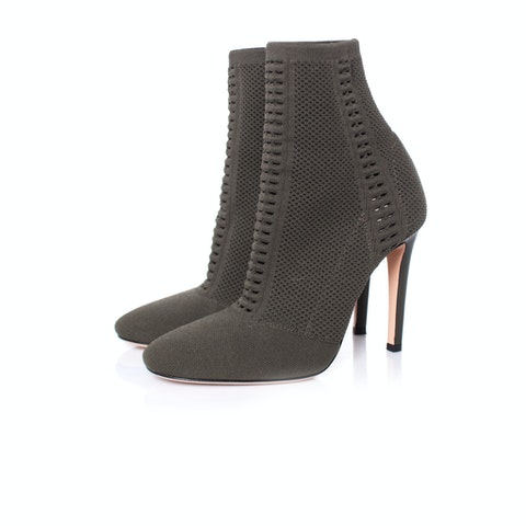 Gianvito Rossi, Vires knitted ankle boots.