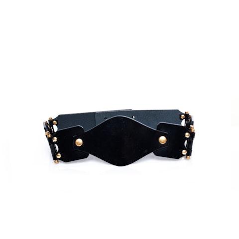Black Patent Leather Waist Belt size S