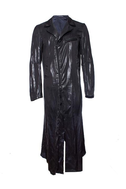 Yohji Yamamoto, Shiny long jacket.