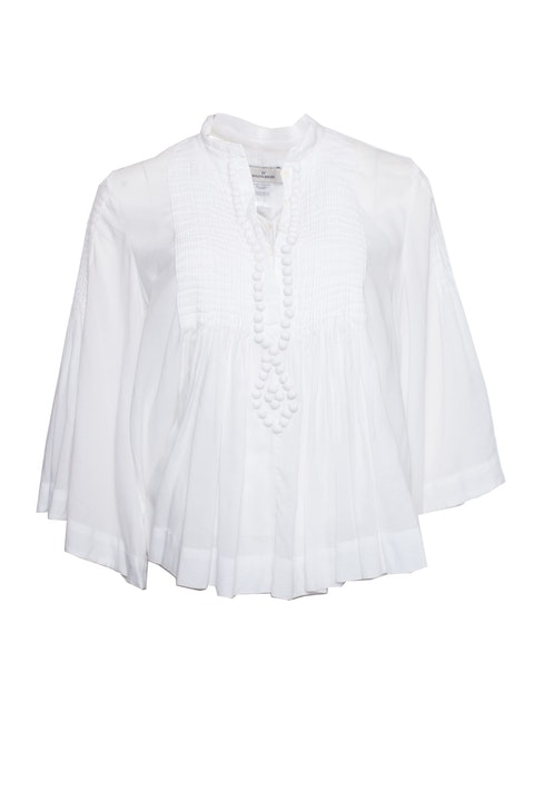 By Malene Birger, Romantic white top with pompoms.