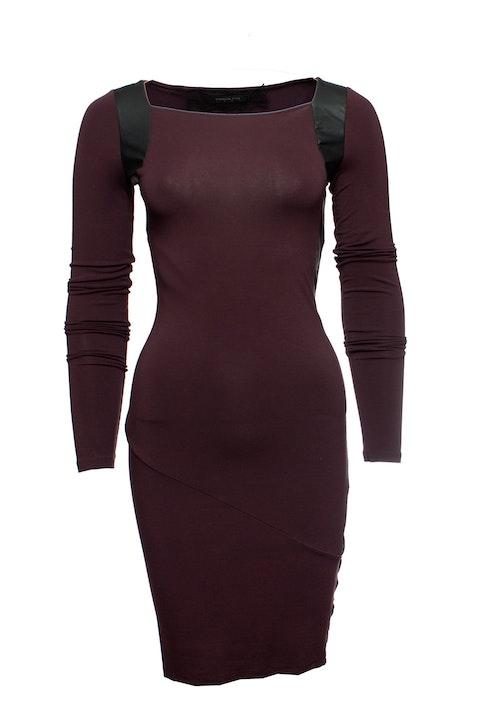 Patrizia Pepe, Aubergine coloured dress.