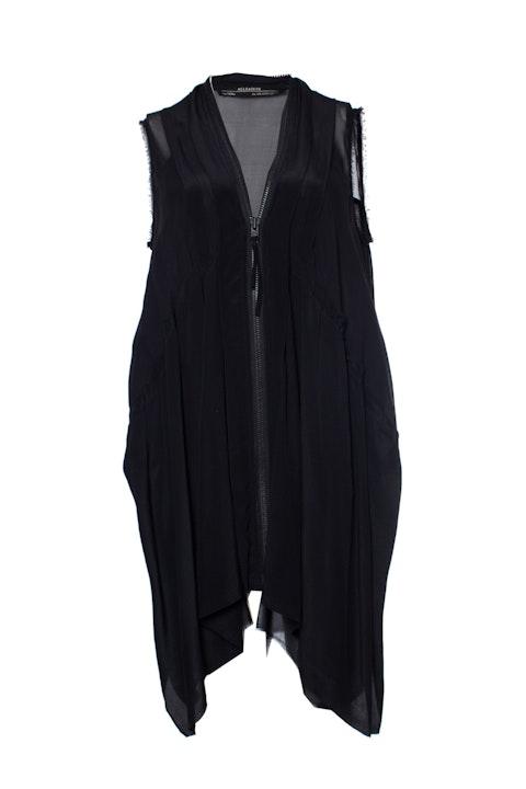 All Saints, asymmetrical dress with zipper