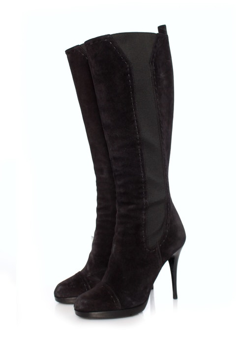 Black suede boots - size 39