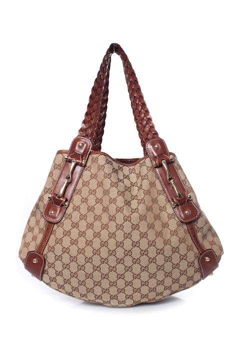 Pelham braided canvas shoulder bag