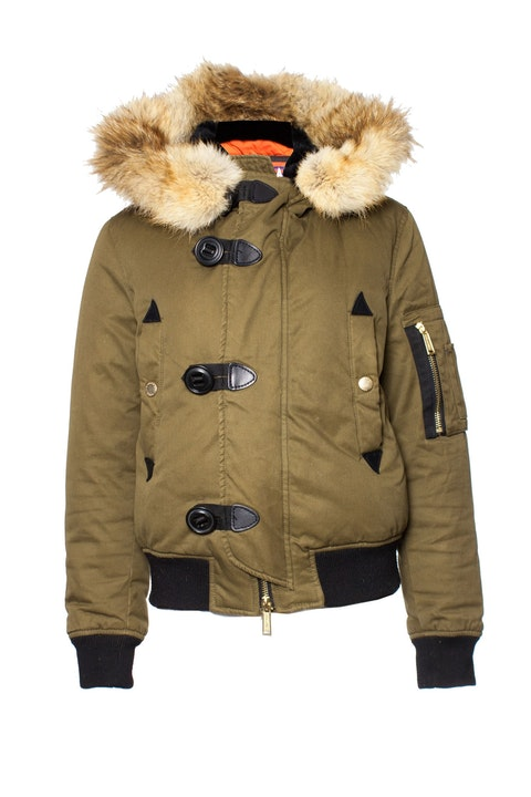 Dsquared2, Green cotton bomber jacket