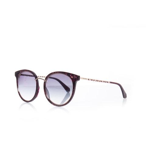Red Plastic Oversized Sunglasses.