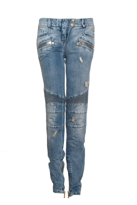 Light blue jeans with lurex