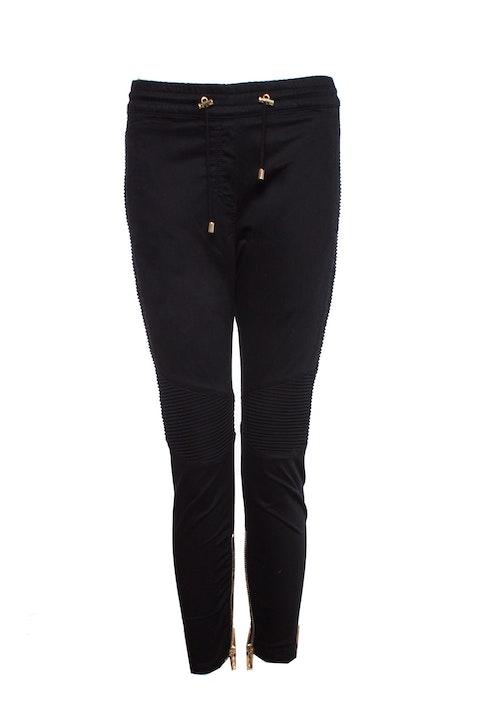Black Cotton Track Pants.
