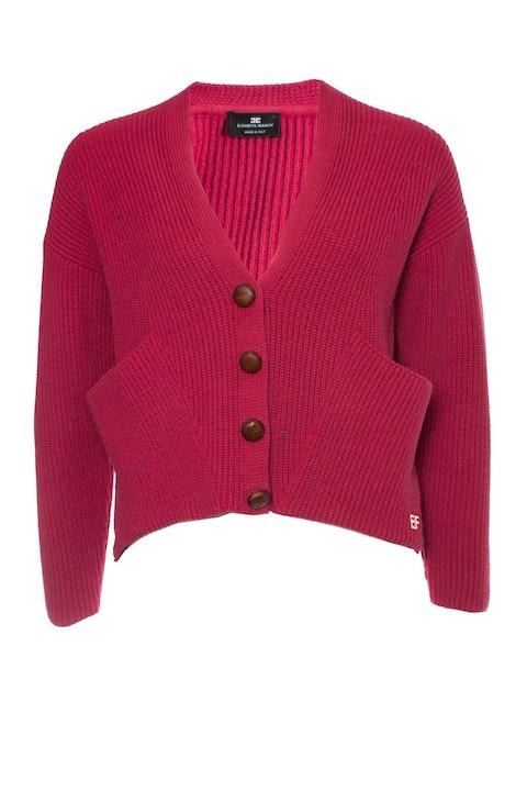 Elisabetta Franchi, Pink knitted cardigan