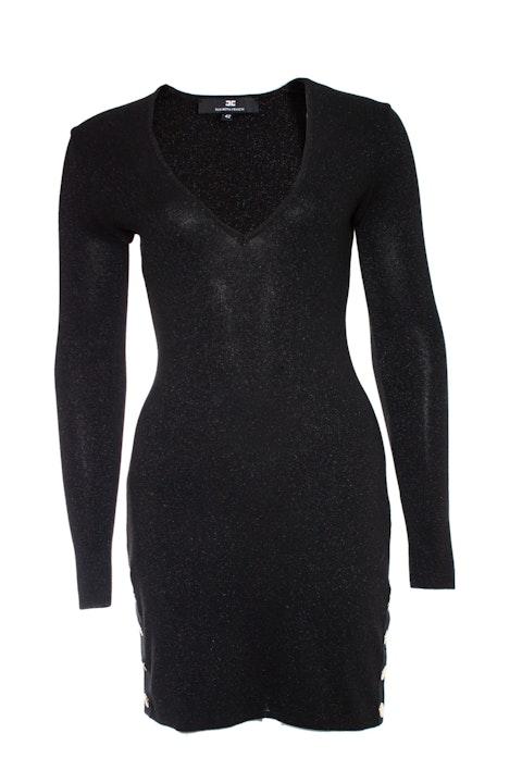 Elisabetta Franchi, black lurex stretch dress