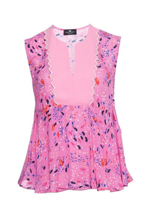 Elisabetta Franchi, Pink top with print.