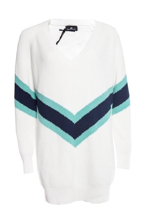 Elisabetta Franchi, knitted sweater dress.