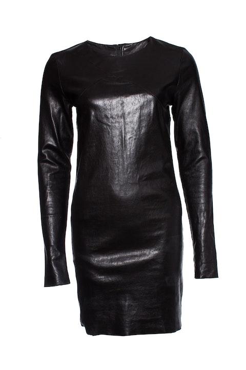 Barbara Bui, Black leather dress.