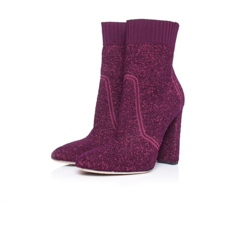 Gianvito Rossi, Fiona boucle knit ankle boots
