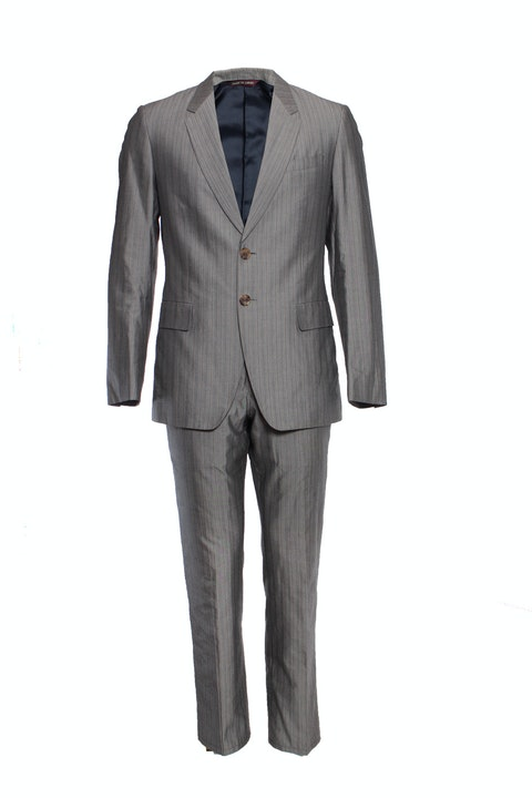 Paul Smith, Grey striped silk suit.