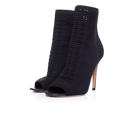Gianvito Rossi, Vires peep toe ankle boots