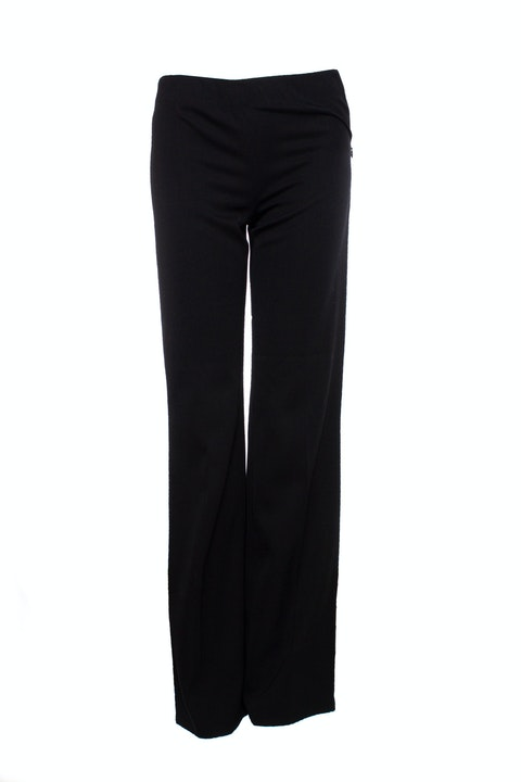 Alaia, black trousers with flared legs