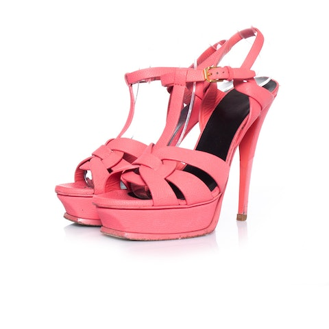 Pink Leather Tribute Heels.