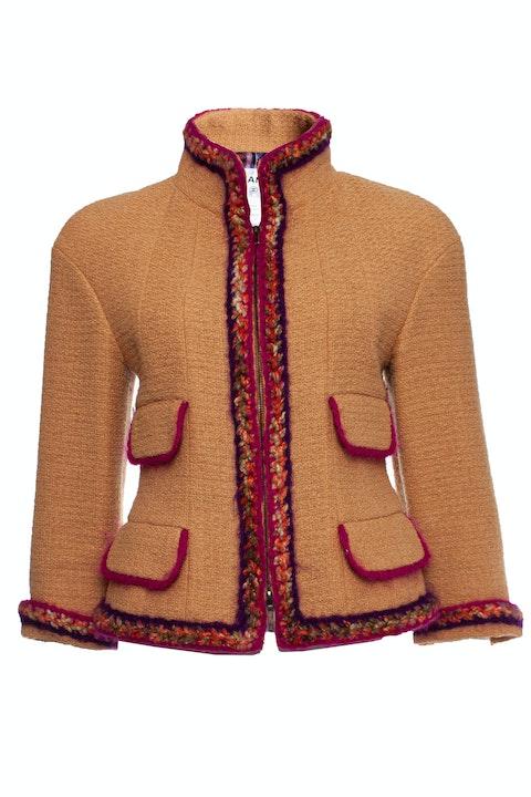 Purple colored wool jacket