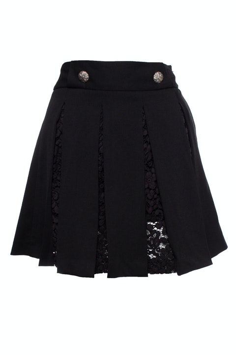 The Kooples, Pleated skirt with lace
