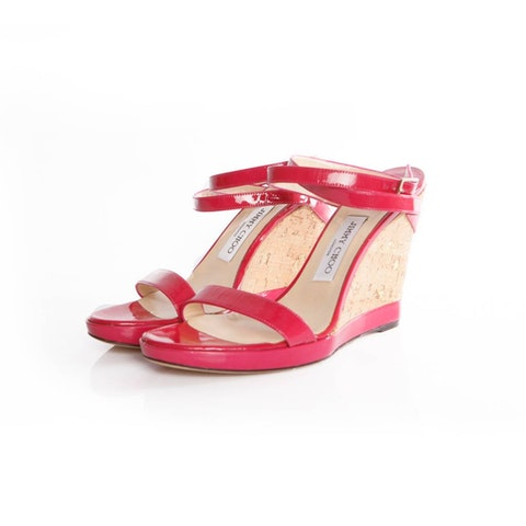 Red Leather Sandal size 39