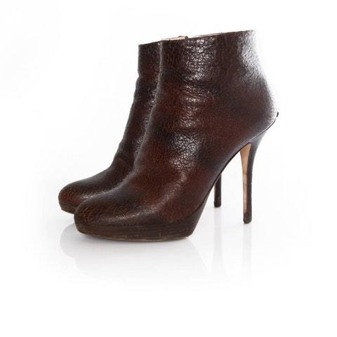 Brown Leather Ankle Boots size 39