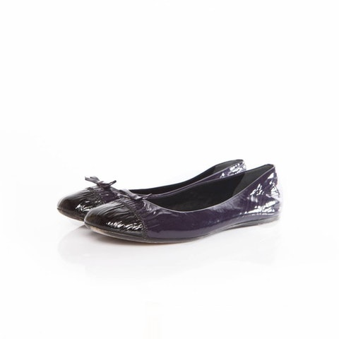Purple Patent Leather Ballerina