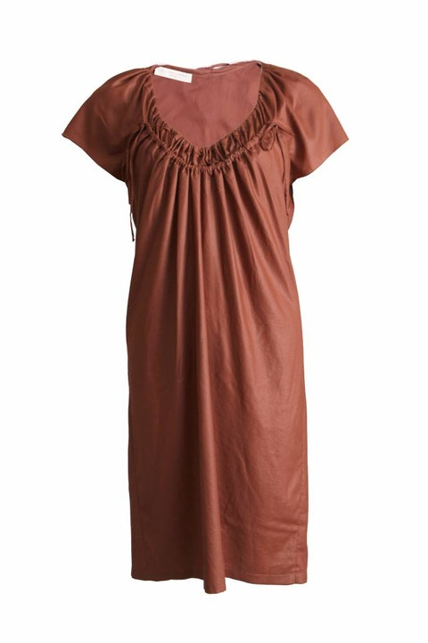 Brown Fabric Dress