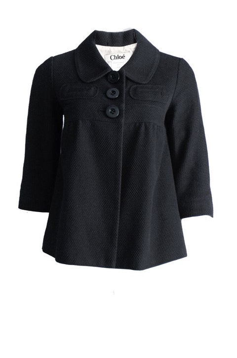 Black Cotton Jacket Size 40F/S