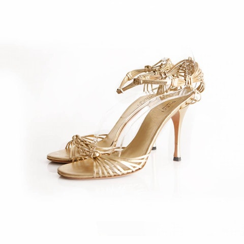 Gold colored sandals - size 39