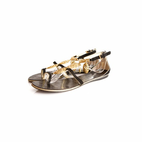 Black Leather Sandals size 40