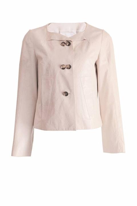Beige Lamb Leather Jacket size FR42/M