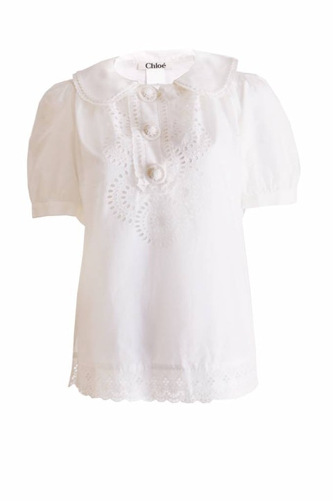 White tunic top in size 40/S.