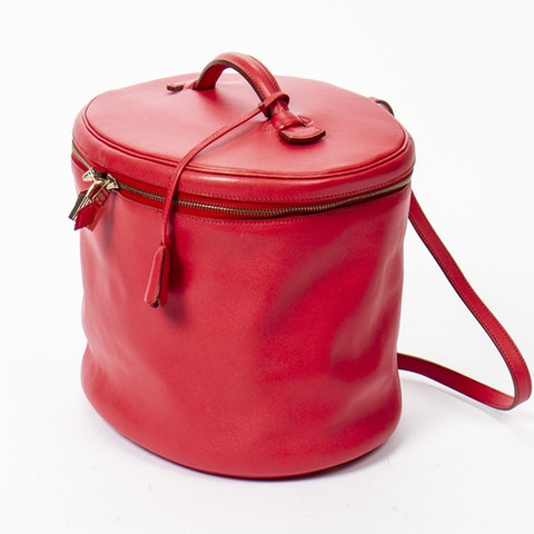 Intercity Victoria Case  in Rouge Vif Calf Leather