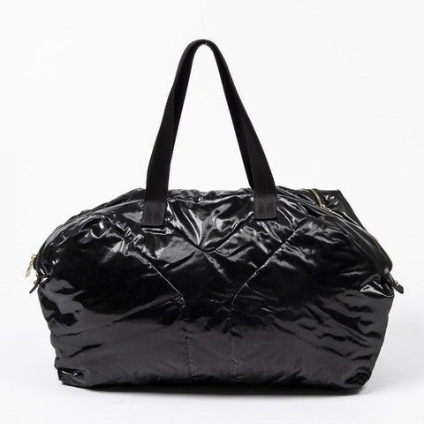 Easy Zippered Tote  in Black Canvas