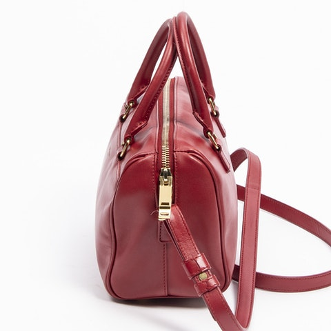 Baby Duffle  in Red Calf Leather
